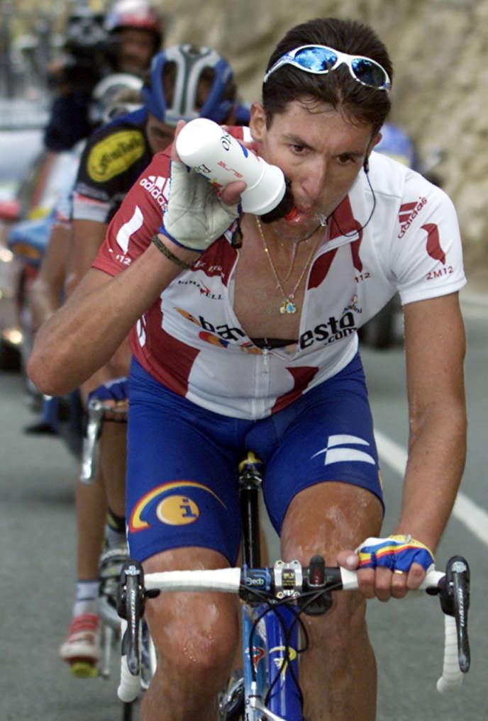 Jose Maria Jimenez, lors du Tour d'Espagne le 23 septembre 2001.