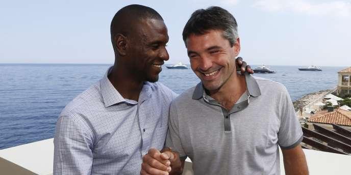 Eric Abidal et Jérémy Toulalan, le 8 juillet à Monaco.