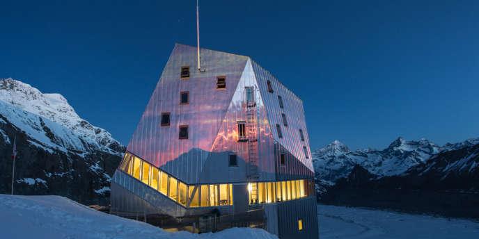 Cabane du Mont-Rose, en Suisse.