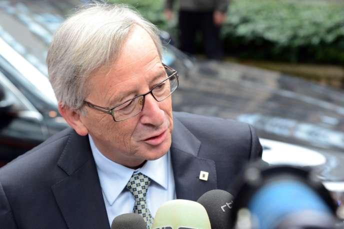 Le premier ministre luxembourgeois Jean-Claude Juncker devant la presse le 28 juin 2013.