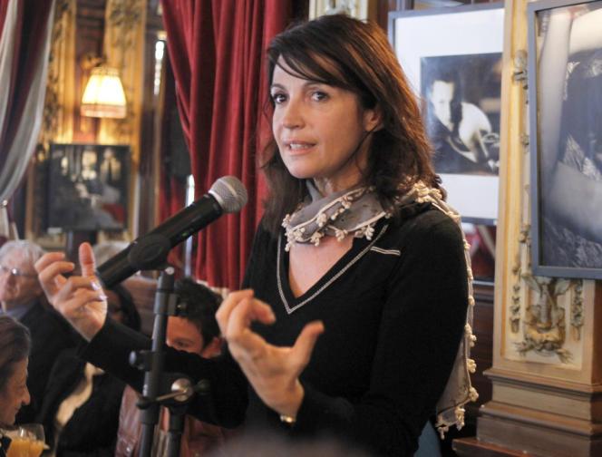 L'actrice Zabou Breitman lors d'une conférence de presse à Paris en mars 2011.