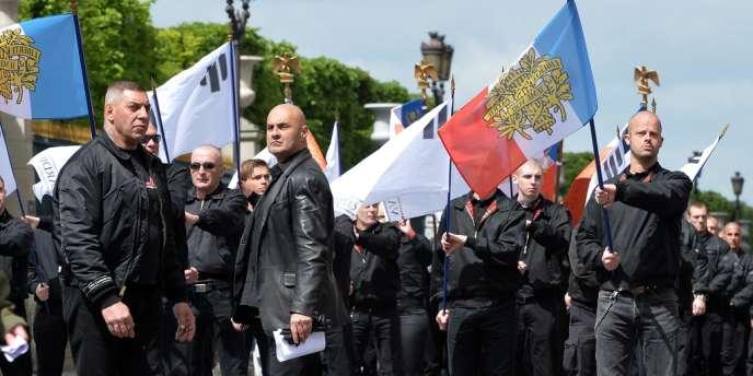 Rassemblement de Troisième Voie, le 12 mai 2013, à Paris.