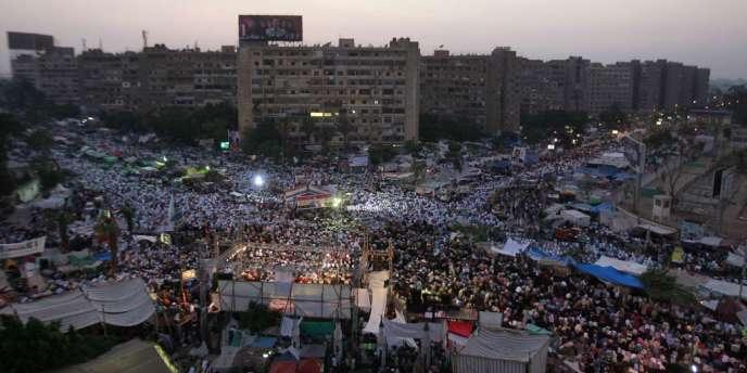 Rassemblement de partisans pro-Morsi le 9 juillet au Caire.