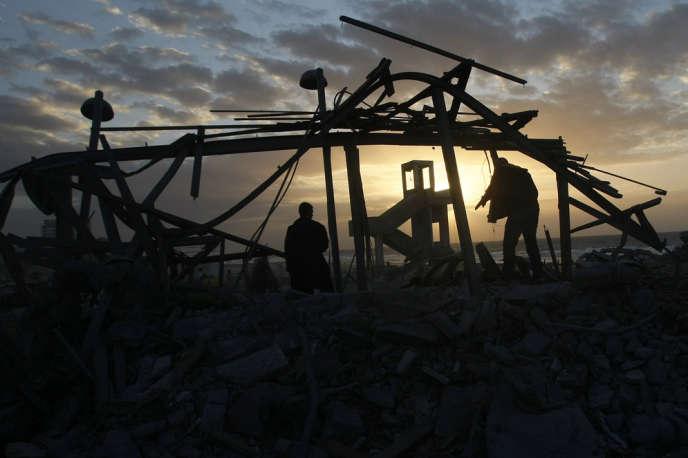 Gaza City sous les décombres, janvier 2009.