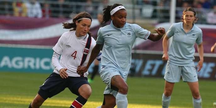 La Lyonnaise Elodie Thomis sera l'une des principales armes offensives de l'équipe de France féminin lors de l'Euro suédois (10-28 juillet).