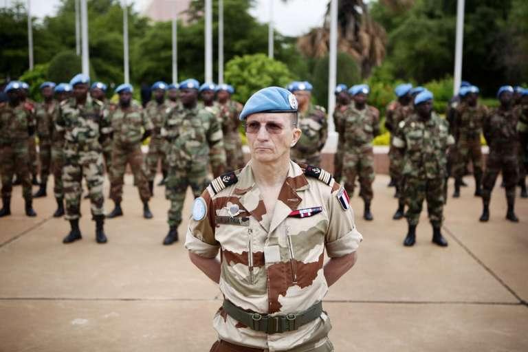 Des soldats de la Minusma, le 1er juillet à Bamako.