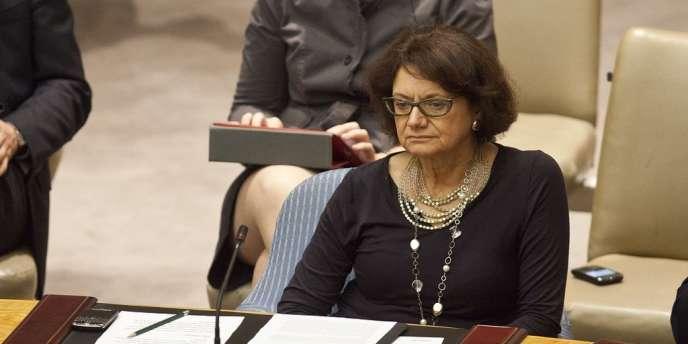 L'ambassadrice américaine par intérim à l'ONU, Rosemary DiCarlo, le 18 juillet 2012.
