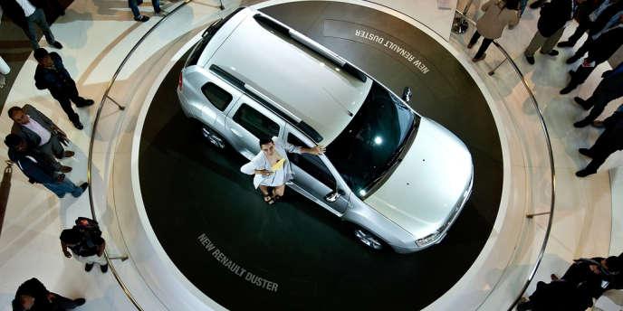 Lors de la présentation de la Renault Duster, à New Delhi, en janvier 2012.