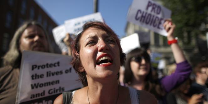 Manifestation en faveur de l'interruption volontaire de grossesse (