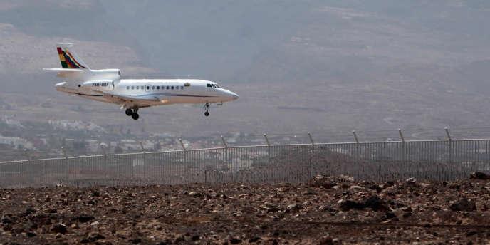 L'avion d'Evo Morales, le 3 juillet aux Canaries.