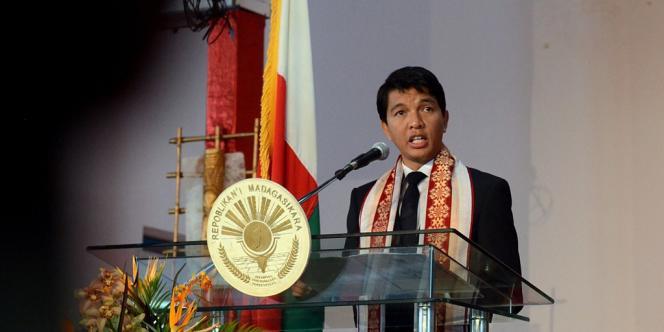 Andry Rajoelina, l'actuel président du régime de transition malgache.