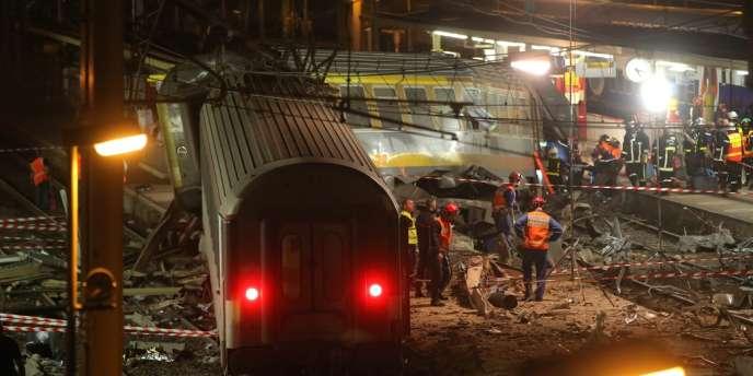 Parti de Paris pour rejoindre Limoges, un train a déraillé en entrant en gare de Brétigny-sur-Orge le 12 juillet 2013, faisant sept morts et trente-deux blessés.