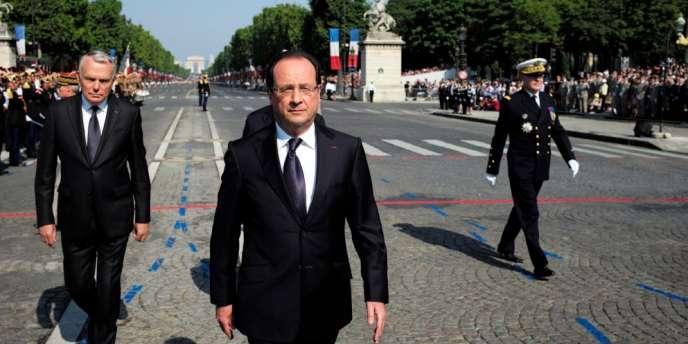François Hollande, dimanche 14 juillet sur les Champs Elysées.