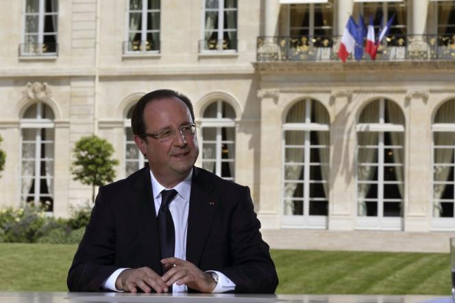 François Hollande lors d'un entretien télévisé, dimanche 14 juillet, à l'Elysée.