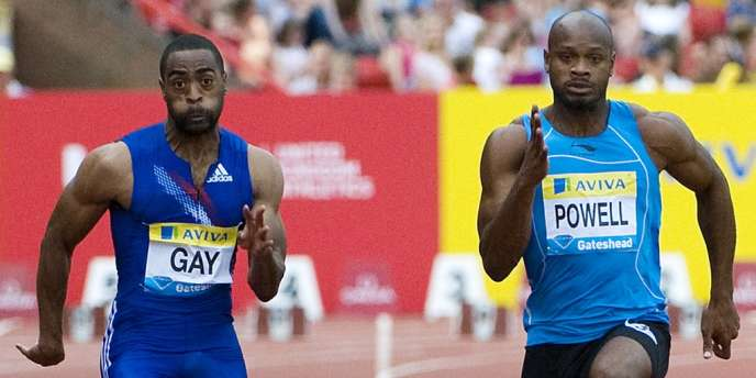 Tyson Gay (à gauche) et Asafa Powell (à droite) ont tous deux annoncé en juillet avoir été contrôlés positifs.