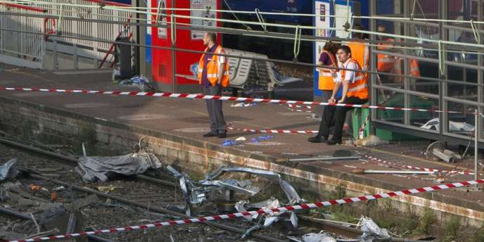 La scène de l'accident de Brétigny sur Orge