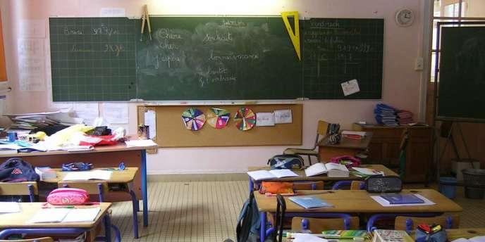 Une salle de classe en France.