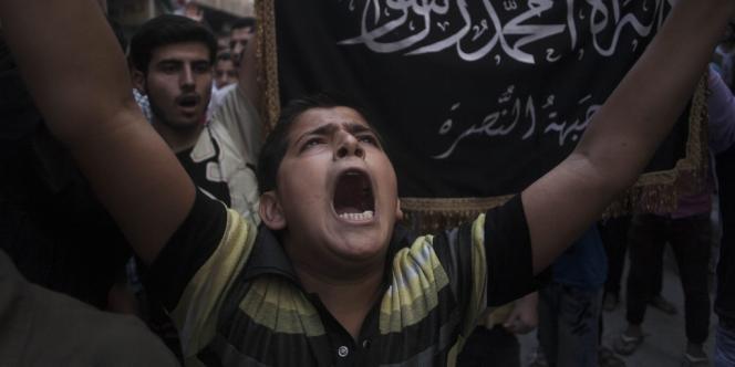 Un militant du Front Al-Nosra, en 2012 à Alep.