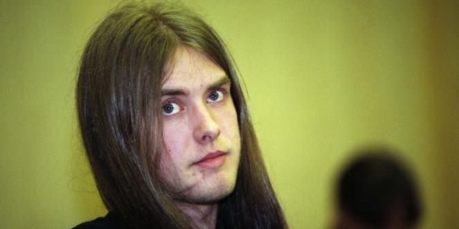 Vikernes en 1994, lors de son procès pour meurtre.