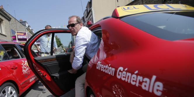 Christian Prudhomme, directeur du Tour de France lors la la 12e étape le 11 juillet.