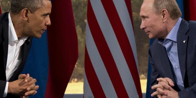 Barack Obama et Vladimir Poutine, le 17juin2013 à Enniskillen, en Irlande du Nord.