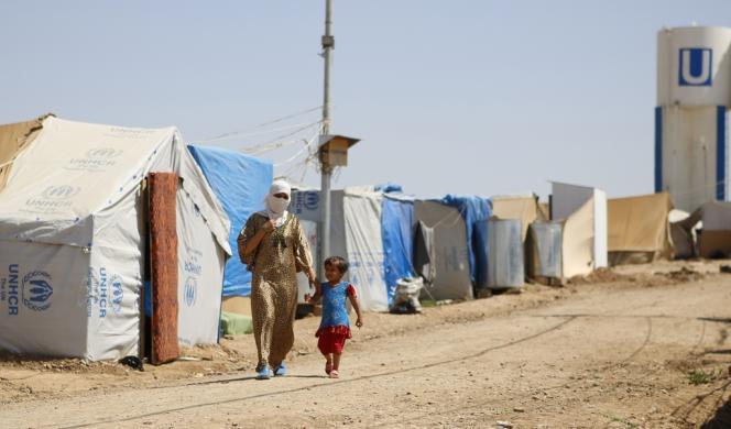 Dans le camp de réfugiés syriens de Domiz, dans le nord de l'Irak, début juillet 2013.