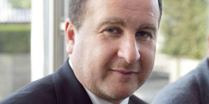 Stéphane Fouks, président d'Euro-RSCG C&O, en 2002 au siège de l'entreprise à Levallois-Perret.