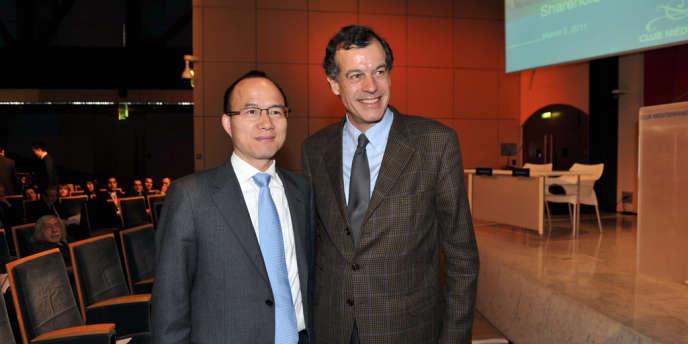 Guo Guangchang, le fondateur du conglomérat chinois Fosun, et Henri Giscard d'Estaing, le PDG du Club Med.