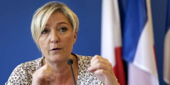 Marine Le Pen, le 10 juillet à Nanterre.
