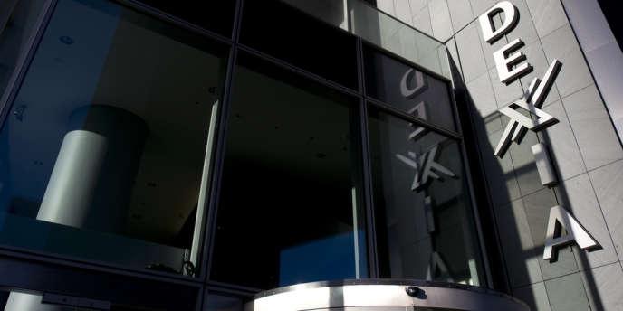 Siège de Dexia en France. L'établissement bancaire, sous perfusion d'argent public depuis 2008, est promis au démantèlement.
