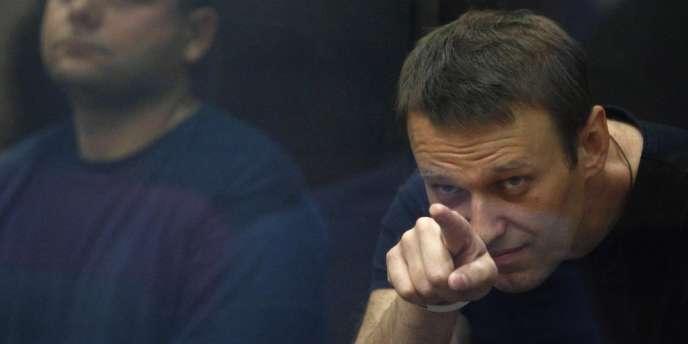 Alexeï Navalny lors de son procès, le 19 juillet.