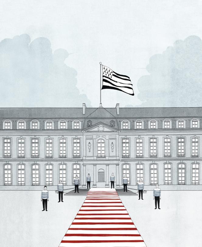 A l'Elysée, le drapeau