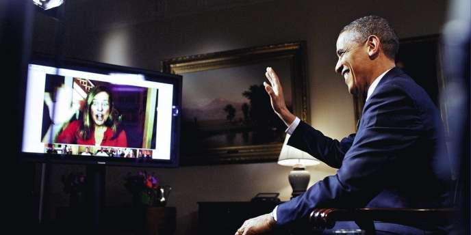 En 2012, Barack Obama a été l'un des premiers hommes politiques à utiliser le Google Hangouts.