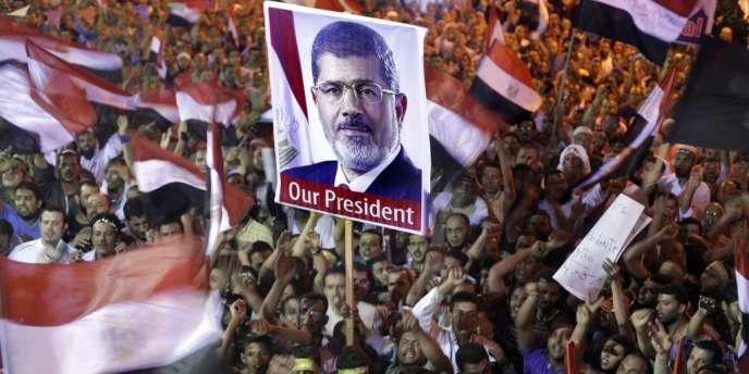 Manifestation en soutien à Mohamed Morsi, vendredi 19 juillet en face de l'université du Caire.
