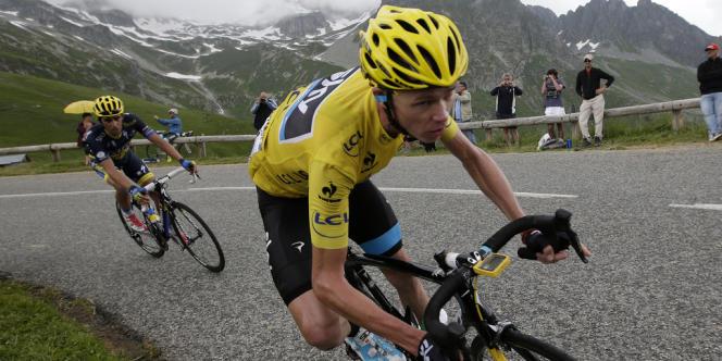 Chris Froome, lors de l'étape entre Bourg d'Oisans et Le Grand Bornand, le 19 juillet 2013.