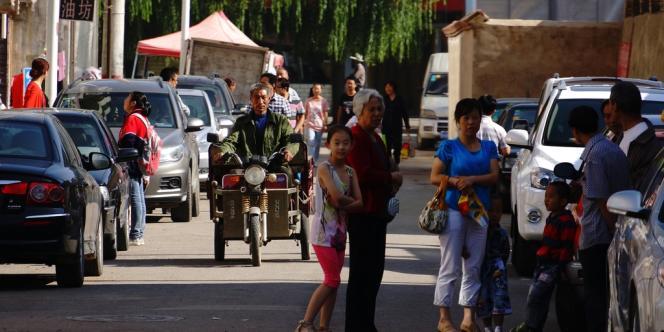 Dans la province du Gansu, frappée par un puissant séisme, lundi 22 juillet.