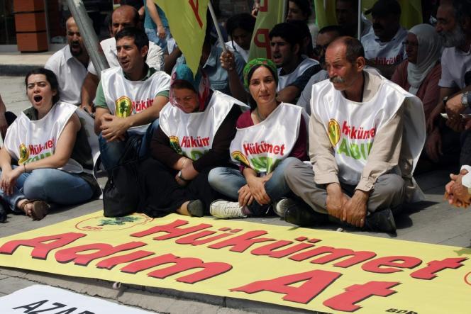 Manifestation pro-kurde, le 13 juillet, à Ankara.
