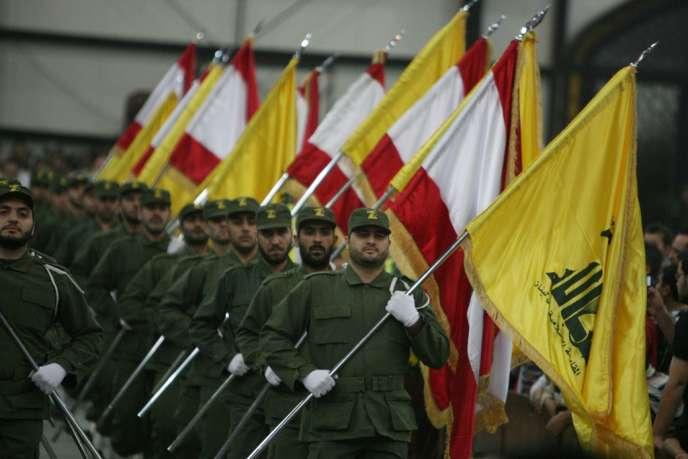 Parade militaire du Hezbollah à Beyrouth.