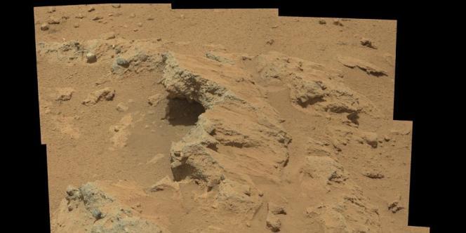 Les traces d'un ancien cour d'eau sur Mars découvertes par Curiosity.