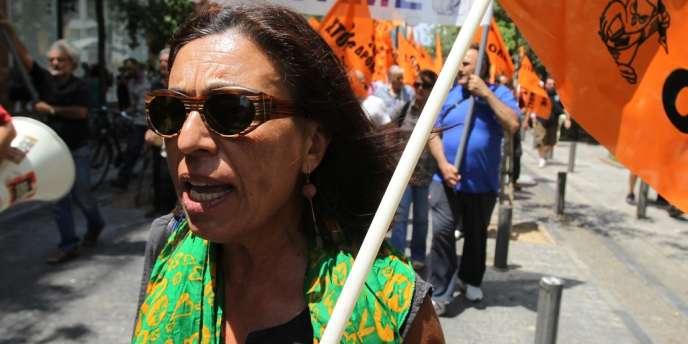 Les manifestants grecs étaient dans la rue lundi 22 juillet pour protester contre les projets du gouvernement en matière d'éducation.