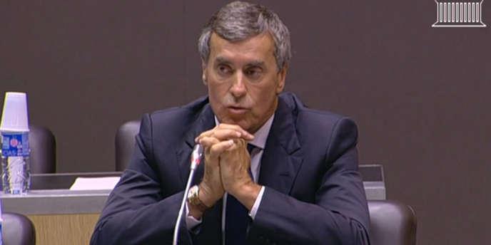 Jérôme Cahuzac devant la commission d'enquête parlementaire, le jeudi 23 juillet 2013.