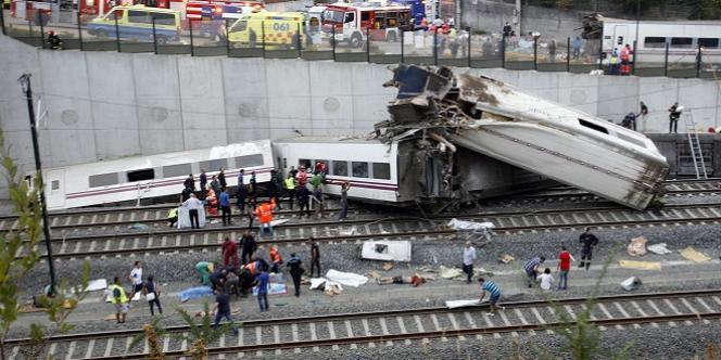 Un train a déraillé près de Saint-Jacques-de-Compostelle, le 24 juillet.