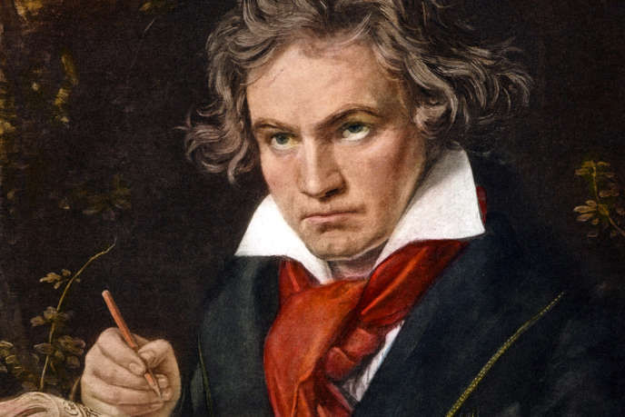 Beethoven tenant la partition de la