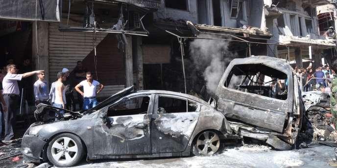 Un attentat à la voiture piégée, le 25 juillet près de Damas.