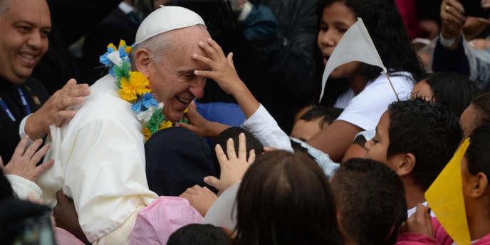 Le pape François aux Journées mondiales de la jeunesse, qui se déroulent à Rio du 23 au 28 juillet 2013.