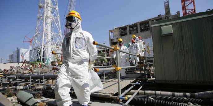 A la centrale de Fukushima, en mars.