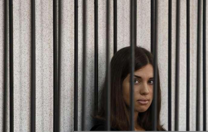 Nadejda Tolokonnikova, le 26 juillet 2013.