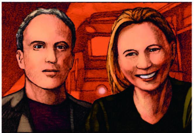 Alexandra Schwartzbrod et Miles Hyman, vus par Miles Hyman.