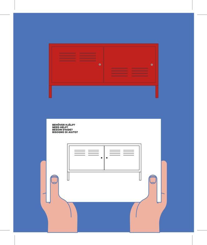 La fameuse armoire rouge de la collection PS, Post-Scriptum, créée en 1992.