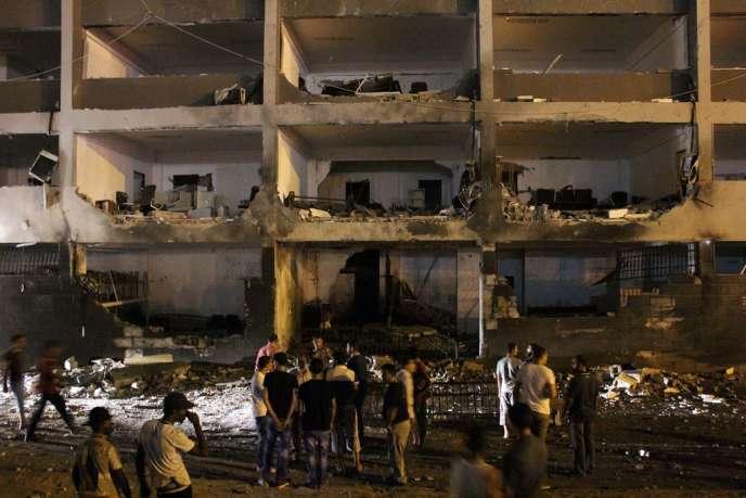 Dimanche 28 juillet, deux puissantes explosions ont endommagé le palais de justice à Benghazi.